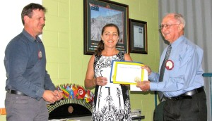 Induction of woman into Mareeba Lions